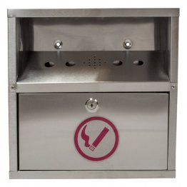 Stainless Steel Cigarette Wall Bin
