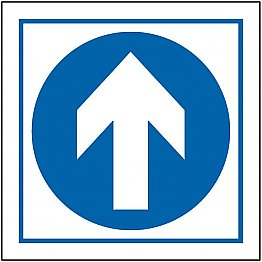 Follow Arrow Adhesive Sign