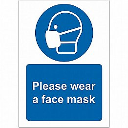Please Wear Face Mask Sign