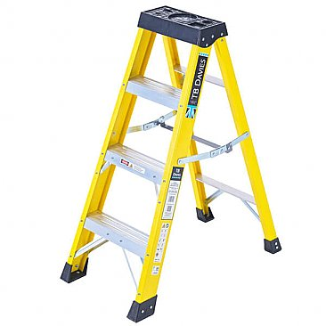 Heavy-Duty Swingback Step Ladder - 4 Tread