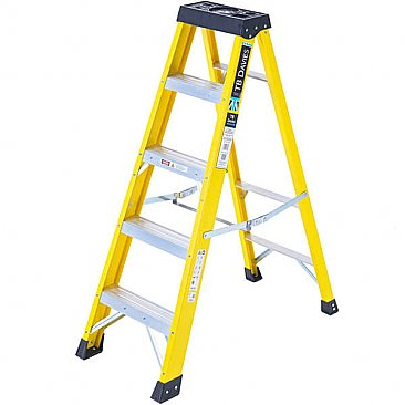 Heavy-Duty Swingback Step Ladder- 5 Tread