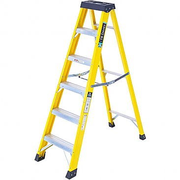 Heavy-Duty Swingback Step Ladder - 6 Tread