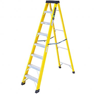 Heavy-Duty Swingback Step Ladder - 8 Tread