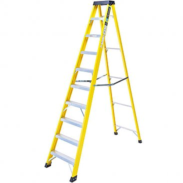 Heavy-Duty Swingback Step Ladder - 10 Tread