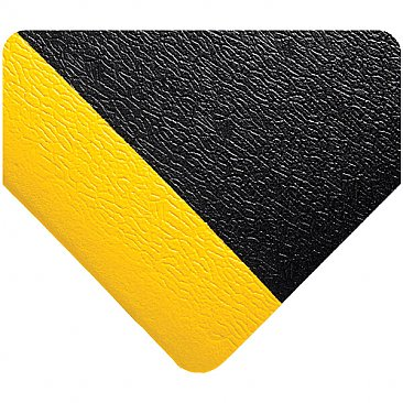 Anti-Fatigue Mat Black with Yellow