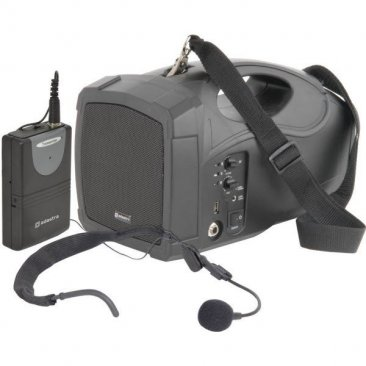Portable PA System with Neckband Mic