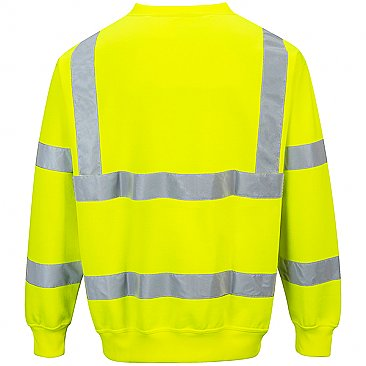 Hi- vis Yellow Sweatshirt Reverse