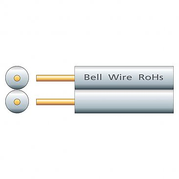 2-Core Bell Wire - White