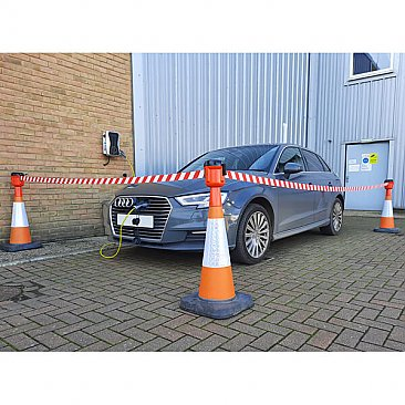 Cone Topper Retractable Barrier 9m