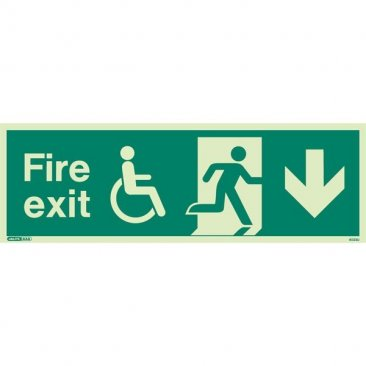 Wheelchair Fire Exit Down 4033