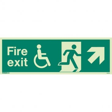 Wheelchair Fire Exit Right Up 4044