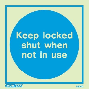Keep Locked Shut When Not In Use 5424