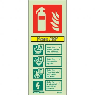 Foam ABF Extinguisher Sign