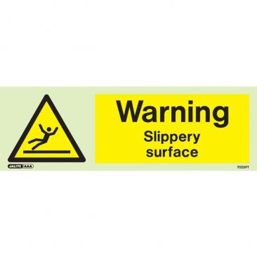 Warning Slippery Surface 7025