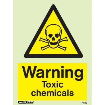 Warning Toxic Chemicals 7112