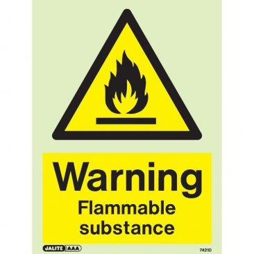Warning Flammable Substance 7421 > Flammable & Gas Warning Signs