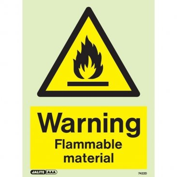 Warning Flammable Material 7422
