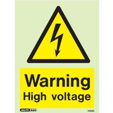 Warning High Voltage 7424