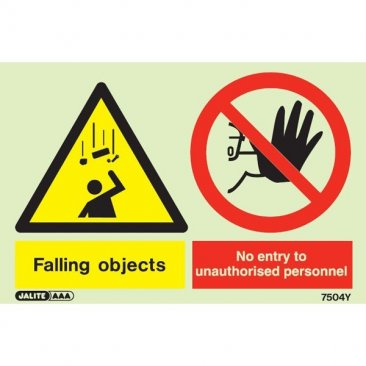 Warning Falling Objects No Entry Unauthorized Personnel 7504
