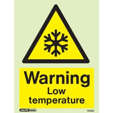 Warning Low Temperature 7545