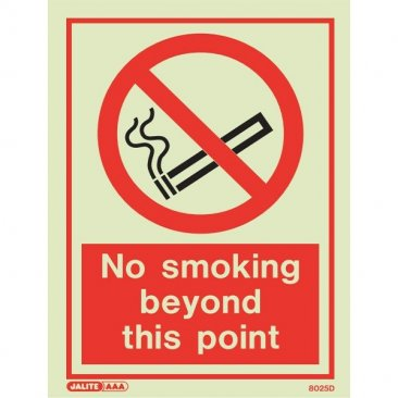 No Smoking Beyond Point