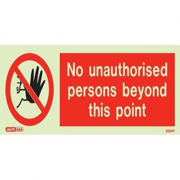 No Unauthorized Persons 8064