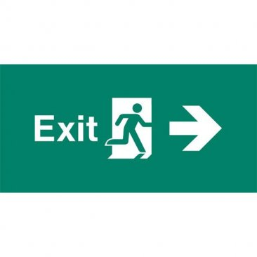 Emergency Light Legend Exit Right Pack of 10 EL405