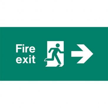 Emergency Light Legend Fire Exit Right Pack of 10 EL435