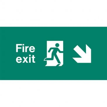 Emergency Light Legend Fire Exit Ahead Pack of 10 EL439