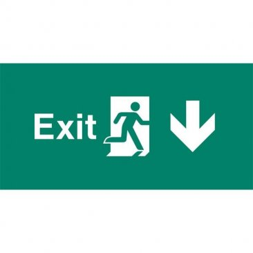 Emergency Light Legend Exit Down Pack of 10 EL447
