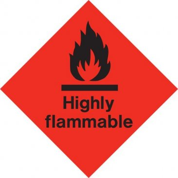 Diamond Highly Flammable HAZ03