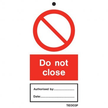 Do Not Close Labels Pack of 10 TIE003