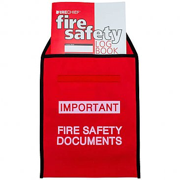Fire Document Wallet with A4 Fire Safety Log Book