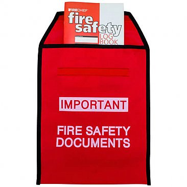 Fire Document Wallet with A5 Fire Safety Log Book
