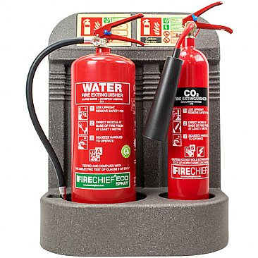 Grey Double Fire Extinguisher Stand