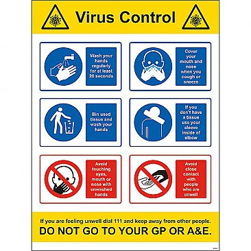 Virus Control Safety Sign