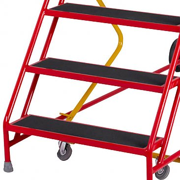 Heavy-Duty Mobile Safety Steps - Anti-Slip Steps