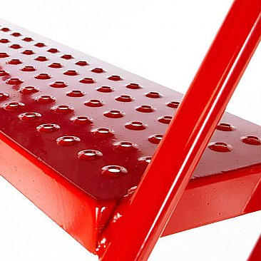 Heavy-Duty Mobile Safety Steps - Punched Hole Steps