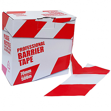 Red & White Barrier Tape for Temporary Fencing
