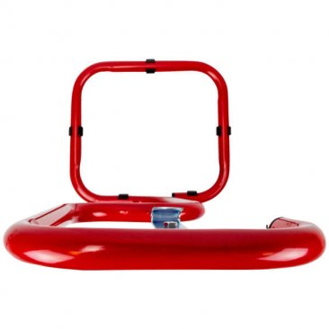 Tubular red fire extinguisher stand
