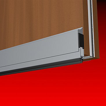 Smoke-Rated Surface-Mounted Bottom Door Seal