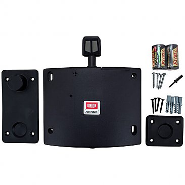 Union Wireless Fire Door Holder Black - Box Contents