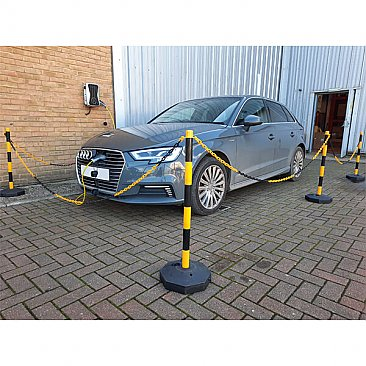 Post & Chain Barrier Kits - Yellow & Black