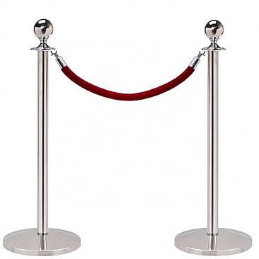 Silver VIP Barrier Post and Rope