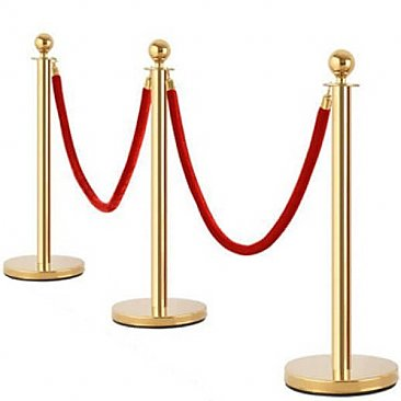Gold VIP Barrier Post and Rope
