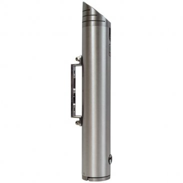 Wall mounted cigarette bin side