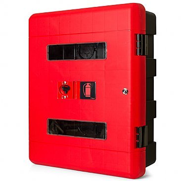 Wall Mounted Double Fire Extinguisher Cabinet - Lockable