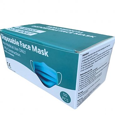 3-ply Face Mask - 50 Pack - Box