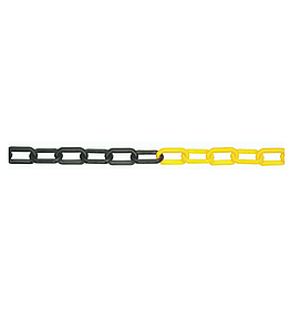 Plastic Barrier Chain 25m Black & Yellow