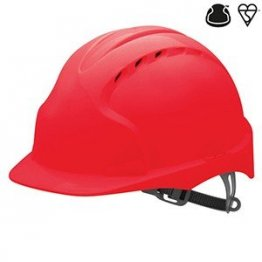 Evo3 Vented Red Safety Helmet